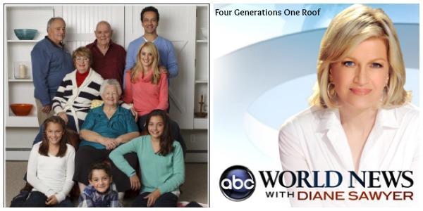 multigenerational living ABC world news tv segment