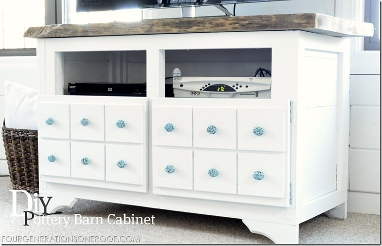 How to build a diy pottery barn inspired media console