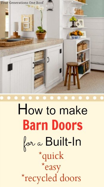 diy built in barn door tutorial