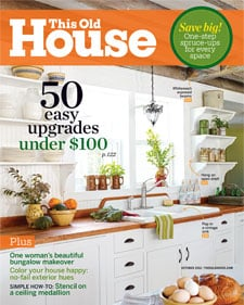 This Old House magazine feature October issue