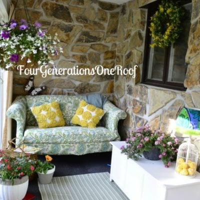 Spring foyer reveal {before & after}