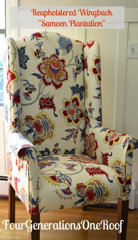 reupholstered wingback