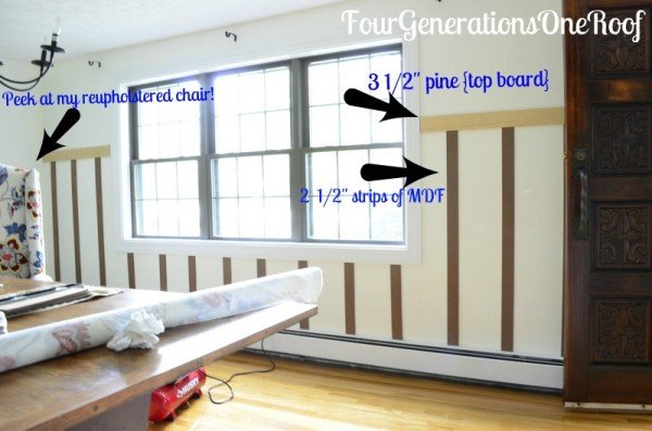 DIY Board And Batten Tutorial Dining Room Four Generations One - Board and batten dining room