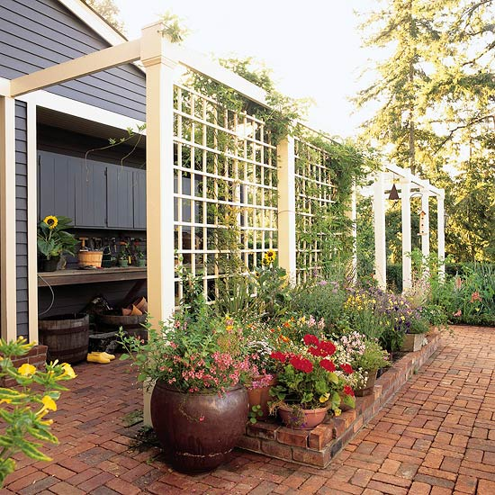 How to build a lattice privacy screen on a budget for Budget fence and patio