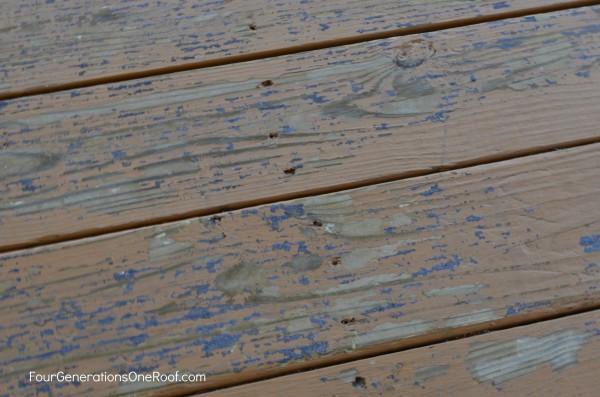 deck floor before