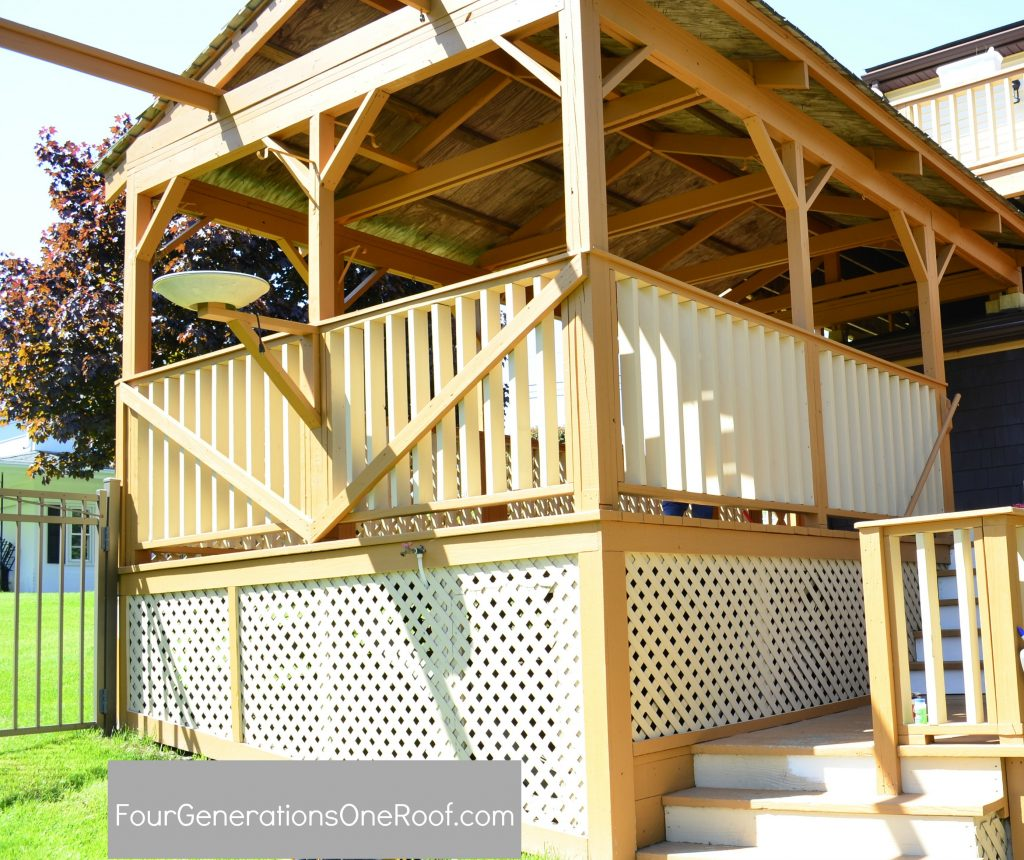 Our pink and orange deck {before & after} - Four Generations One Roof