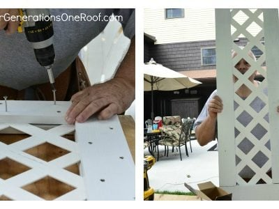 How to build a lattice privacy screen on a budget {tutorial}