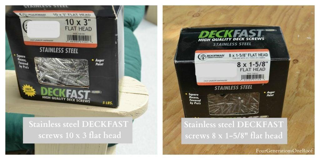 deckfast screws