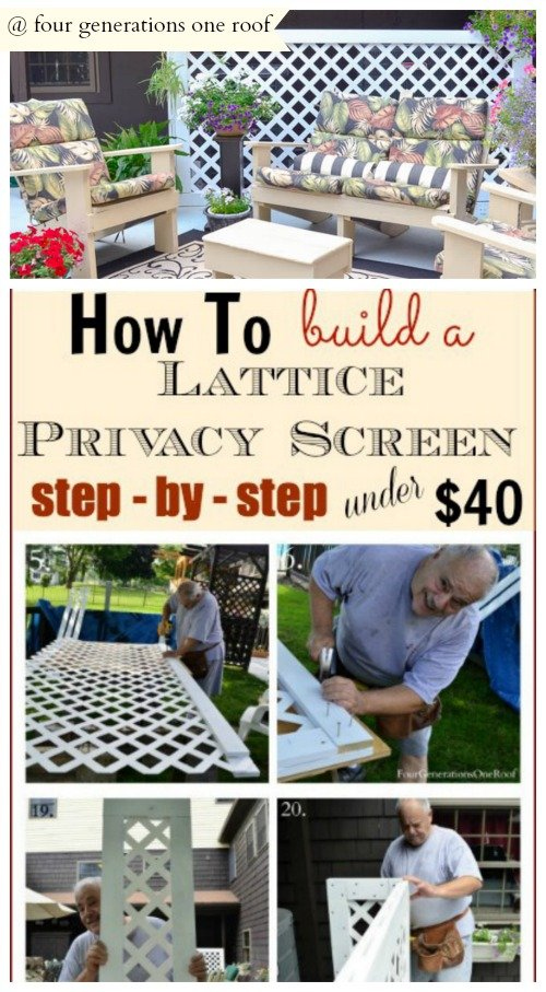 How To Build A Lattice Privacy Screen On A Budget
