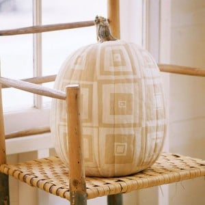 painted patch work pumpkin