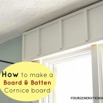 DIY Board and batten cornice board