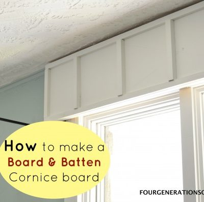 DIY wooden cornice board {board & batten trim}