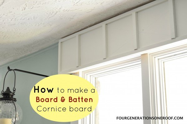 DIY Board and batten cornice board