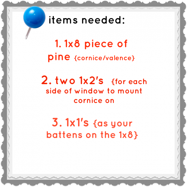 diy board and batten cornice board supplies need