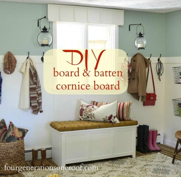 DIY Board and batten cornice board {tutorial}