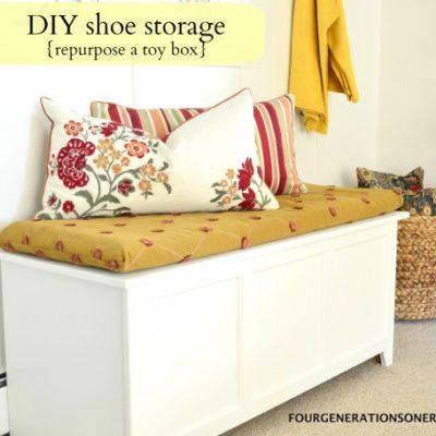 DIY shoe storage {tutorial}