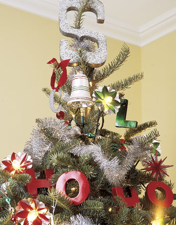 Lettered christmas ornaments