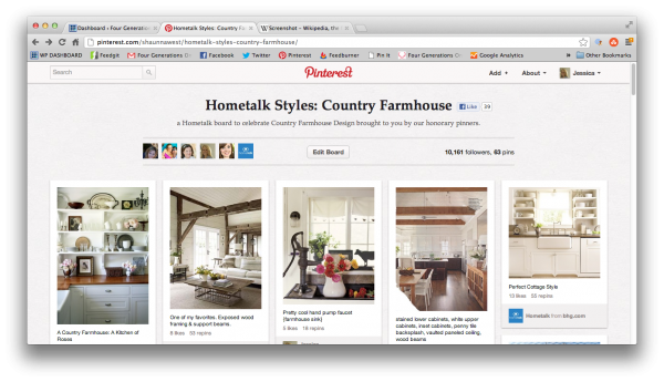 HOmetalk country farmhouse pinterest board