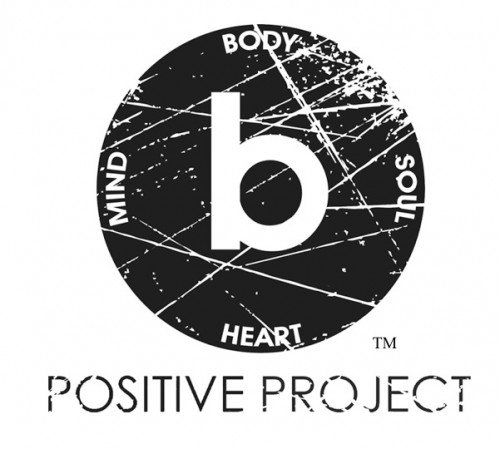 b Positive Project Distressed Logo