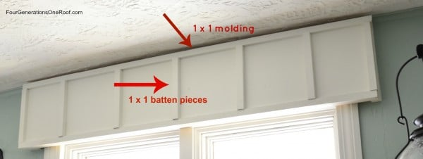 DIY Board and batten cornice board {tutorial}