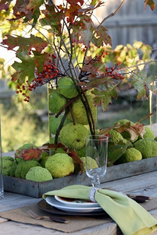 green apple fall tablescape