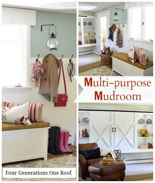 diy multipurpose mudroom