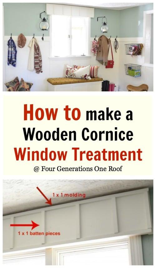 how to make a cornice board