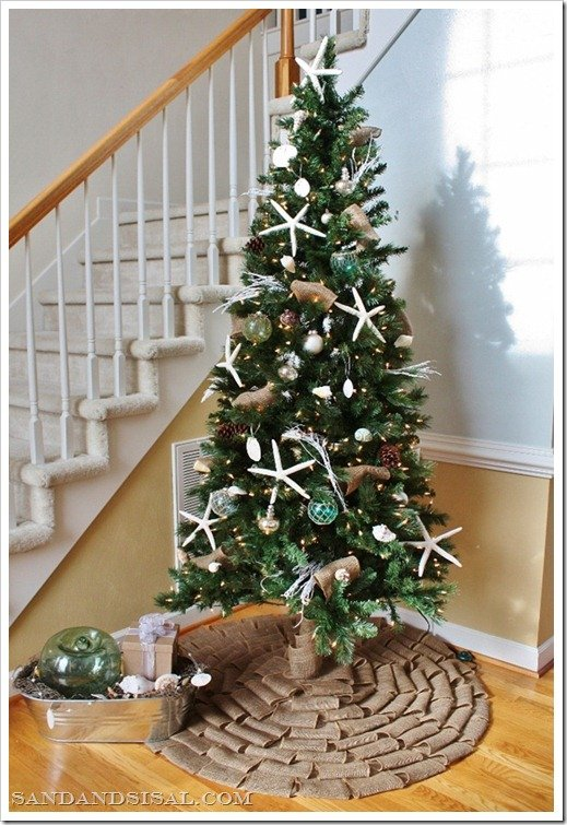 Coastal themed christmas tree