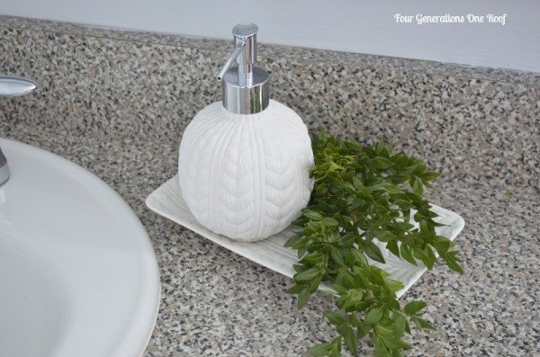 DIY bathroom renovation target soap dispenser