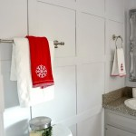 DIY budget bathroom renovation towels