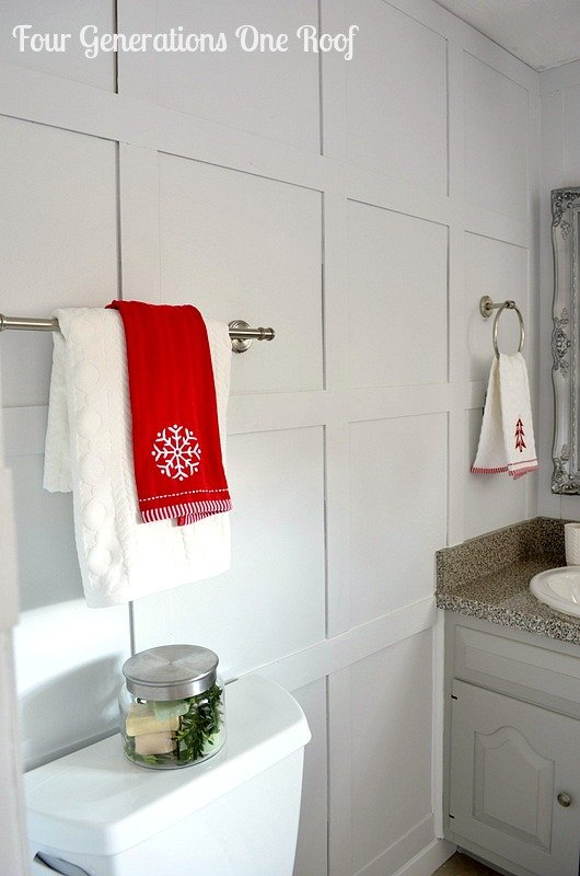 Elegant DIY budget bathroom renovation towels