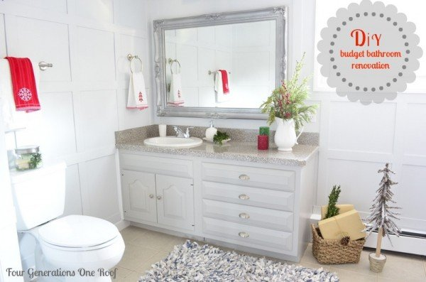 DIY budget bathroom renovation vanity