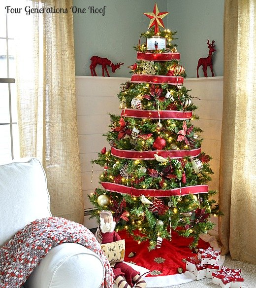 Our decorated Christmas tree {Home Depot Style Challenge} - Four ...