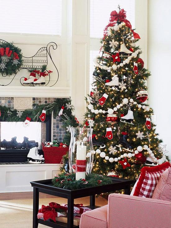 Mitten and Ice skates christmas tree