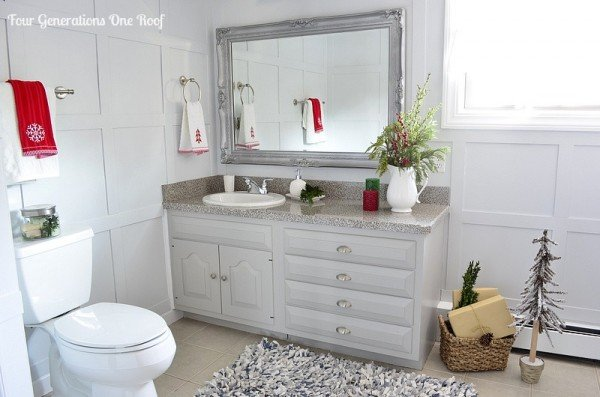diy gray bathroom renovation