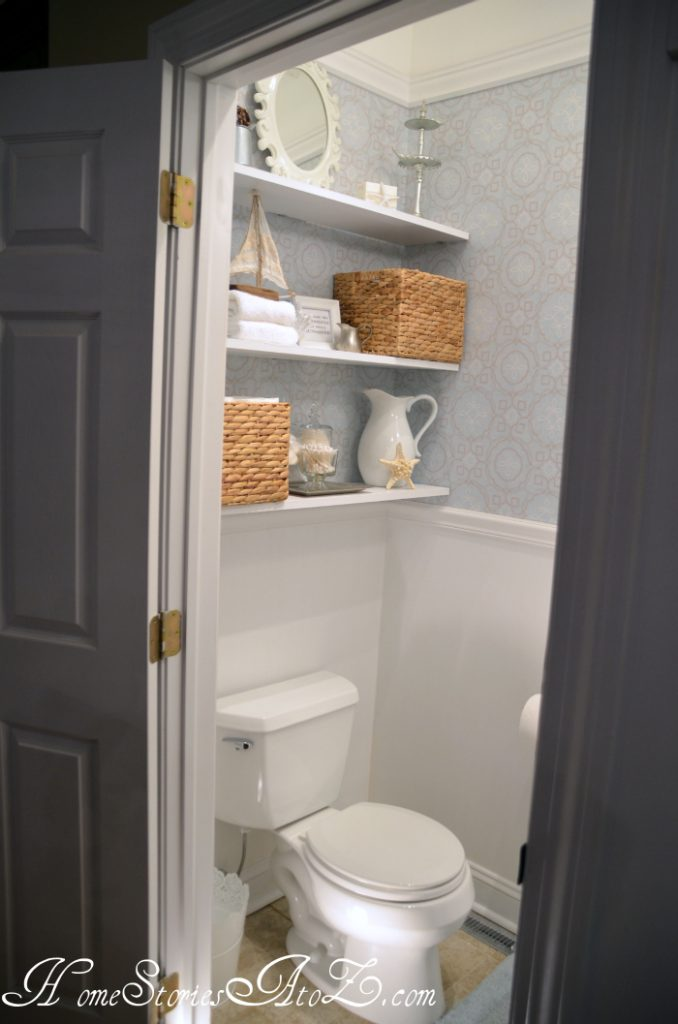 floating bathroom shelving