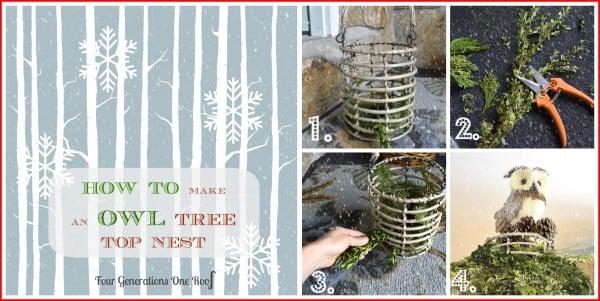 DIY christmas decorations owl tree topper
