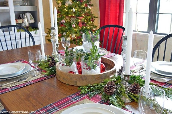 Our Christmas Table Four Generations One Roof