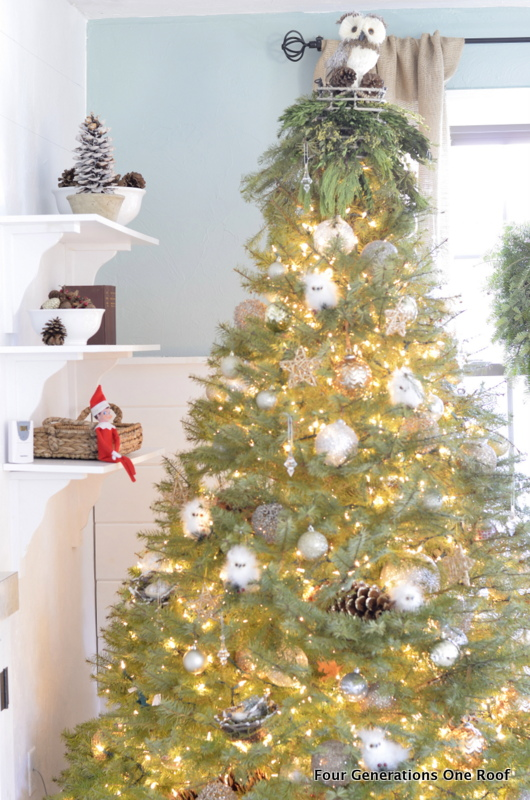 silver + gold christmas tree