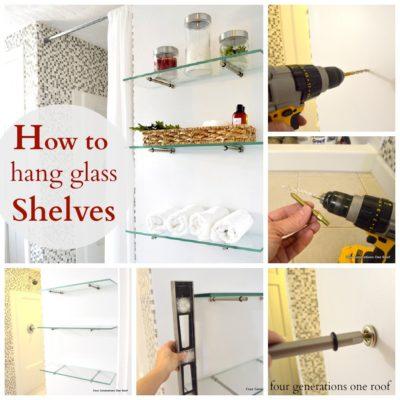 How to hang glass shelves using bingo brackets