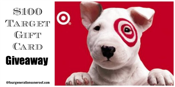 Target 100 Gift Card Giveaway Winner Four Generations One Roof