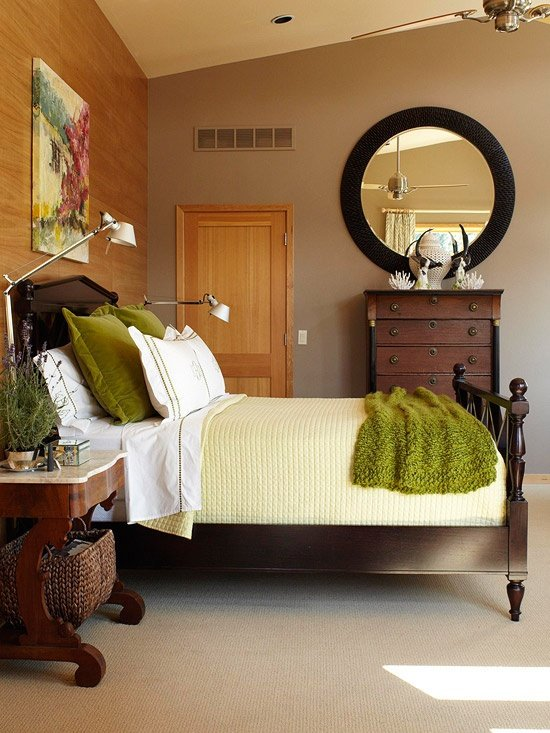 avoid winter blues by decorating your bedroom in layered texture