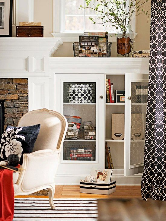 avoid winter blues by creating pretty storage for small items