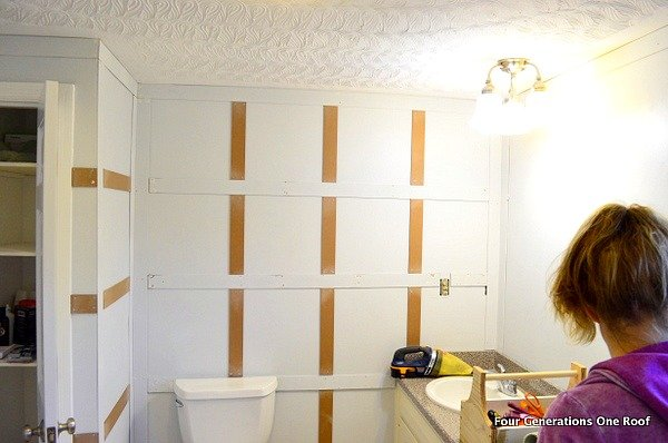 bathroom board and batten wainscoting tutorial four generations