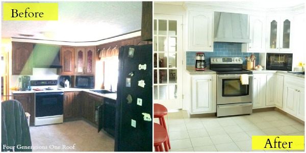 Kitchen Makeovers White Cabinets our modern cottage kitchen {makeover} - four generations one roof
