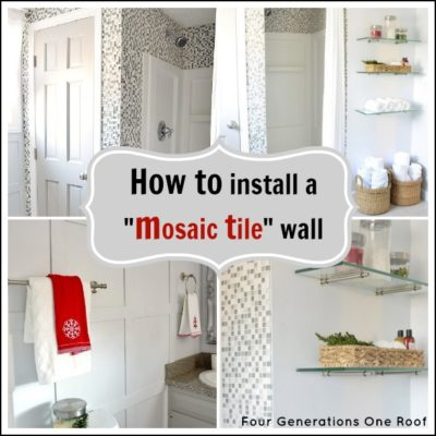How to install mosaic tile {tutorial}