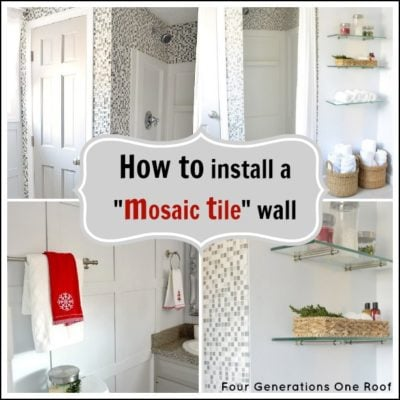 How to install mosaic tiling {tutorial}