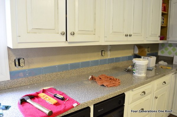 how to install a removable backsplash