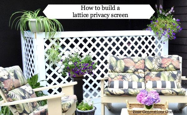 how to build a lattice privacy screen