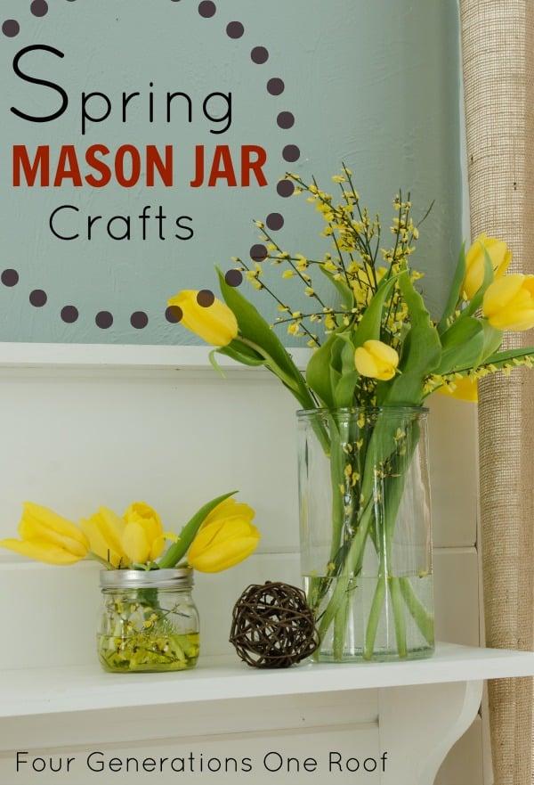spring mason jar crafts